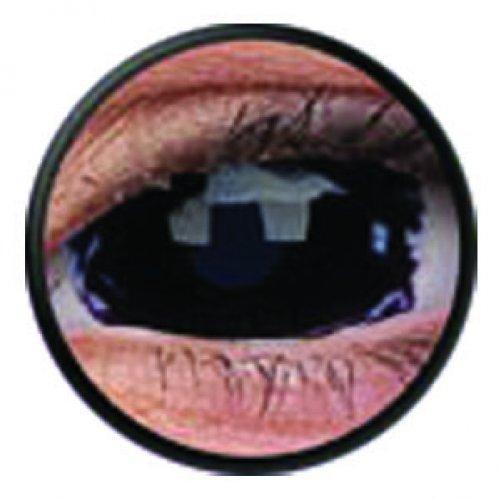 1 Paar Sclera APOCALYPSE Kontaktlinsen linsen farbig blau schwarz vampir mit Box dämon halloween kostüme scleral