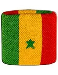 Digni® Poignet éponge avec drapeau Sénégal