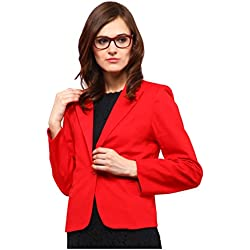 Yepme Enya Casual Blazer - Red -- YPMBLZR5013_L