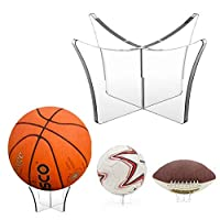 Schildeng Acrylic Multi-function Display Stand Bowling Rugby Bracket Basketball Stand Bracket Display Stand Rack Bracket Base Football Rugby Display Football Volleyball Bowling