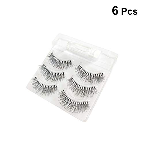 Frcolor 3 ciglia finte naltural cross eyelashes nude makeup ciglia con colla