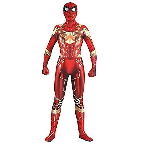 SDFXCV Iron Man Spiderman Cosplay Steel Version des All Inclusive 3D Digitaldruck Strumpfhosen Kostüm Weihnachten Halloween Kostüm,Adult-XL(Height67-69Inch)