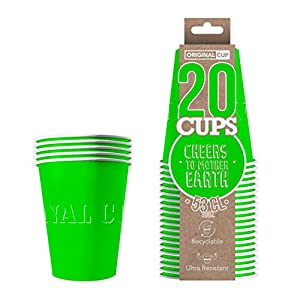 Original Cup - 20 x Vasos Américanos Papels Beer Pong 53cl - Juego para Beber - Verde