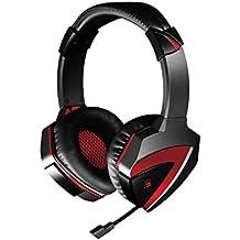 A4Tech A4-G500 3,5 mm Binaurale Diadema Negro, Rojo auricular con micrófono - Auriculares con micrófono (PC/Juegos, Binaurale, Diadema, Negro, Rojo, Alámbrico, Circumaural)
