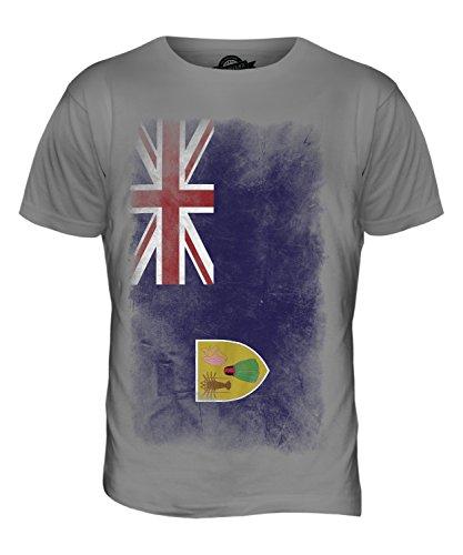 CandyMix Turks- Und Caicosinseln Verblichen Flagge Herren T Shirt Hellgrau