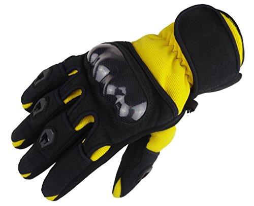 Bangla 5000 Motorradhandschuh Motorrad Handschuhe Sommer Schwarz Gelb XL