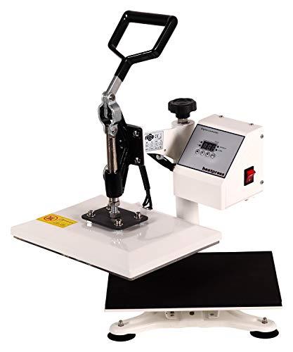 RICOO Transferpresse Power Zwerg-TW Druckfläche: 23x30cm Textildruckpresse Textilpresse Transfer Presse Thermopresse T-Shirtpresse Sublimationspresse geeignet für Flexfolie und Flockfolie || Shirt bedrucken günstig || Farbe: Verkehrsweiss - 4
