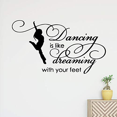 Cartoon tanzen träumen Wandtattoo Art Vinyl Aufkleber Für Wohnzimmer Schlafzimmer Home Party Decor Wallpaper-49x28 cm