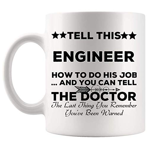 BHWYK Hilarious Engineer Mug Coffee Cup | Electrical Mechanical Engineering Network Computer Civil Chemical Engine Software Gift for Coworker Employee Colleague Mugs