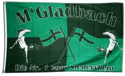 Fahne / Flagge Mönchengladbach + gratis Sticker, Flaggenfritze®