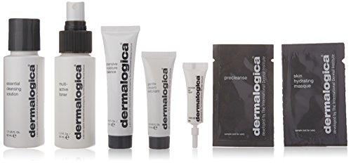 Dermalogica Kit de voyage pour peaux sèches Démaquillant 50 ml/brume tonifiante équilibrante 22 ml/crème exfoliante 10 ml/soin yeux 4 ml/2 échantillons