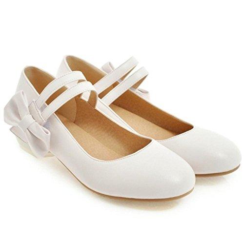 Coolcept Femmes Tricoter Bowknot Escarpins white