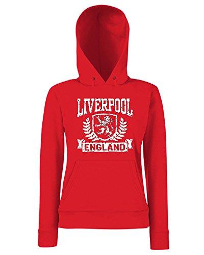 T-Shirtshock - Sweats a capuche Femme TSTEM0234 liverpool england (3) Rouge