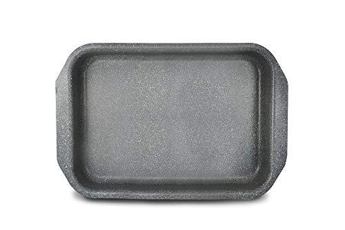 Bialetti Donatello Petravera Lasagnera (Rostiera), Alluminio, 35x25 cm, Grigio, 0 cm