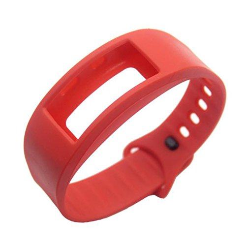 Vovotrade ❤❤Für Samsung Gear Fit 2 SM-R360 Luxus Silikon Uhr Ersatz Band Strap Wristband (Rot)