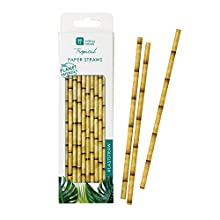 Talking Tables FST6-STRAW Tropical Fiesta Paper Straws 30 Pk, Multicolore