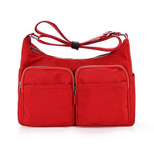 Borse A Tracolla Messenger Borse Multitasche Crossbody Impermeabile Borse Red