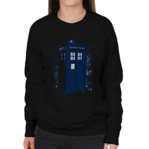 Travel In Time Tardis Doctor Who Women's Sweatshirt, Vêtements