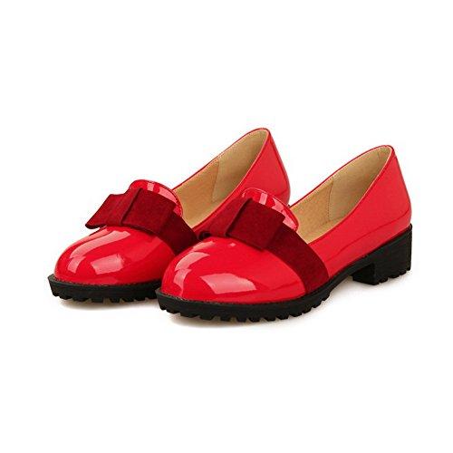 Donne Tacco Hanno Basso Luce Rossa Tira Solido Pelle Scarpe Voguezone009 In Colore WwB1HAg1