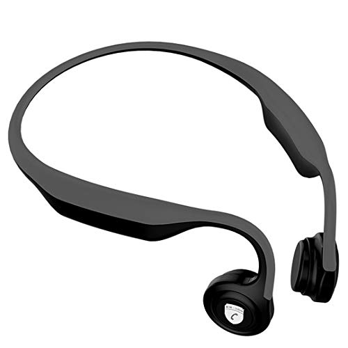 Linbing123 Bone Conduction Kopfhörer, Bluetooth Headsets Sport Kopfhörer Sweatproof Noise Cancelling Loud Sounds Open Ear Stereo Wireless Kopfhörer,Black -