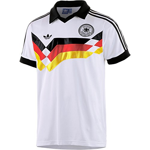 Adidas T-Shirt Men Germany Home JR AJ8021 Weiß, Größe:S
