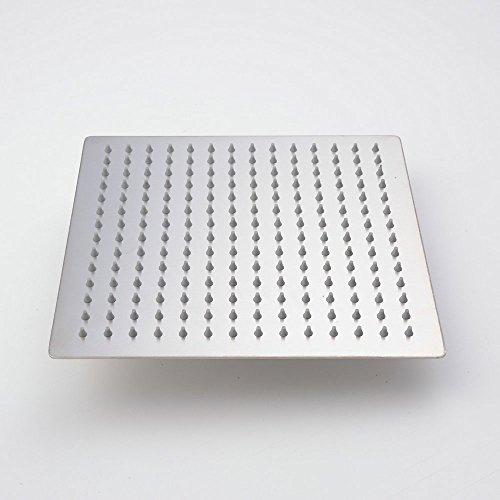 Hiendure 25cm Ultra dünn Rostfreier Stahl Regen Duschkopf Platz Duschkopf , Gebürstetes Nickel