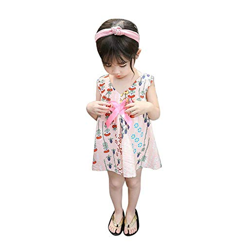 YICANG Mädchen-Blumenkleid-Sommer-Prinzessin Outfits Clothes Sleeveless Sundress für Babys