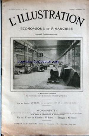 ILLUSTRATION ECONOMIQUE ET FINANCIERE (L') [No 193] du 09/12/1922 - LA METALLURGIE FRANCAISE - USINE BERGUET DE DOUA - LA FRANCE ET LES PETROLES DE MOSSOUL. par Collectif