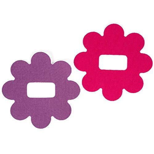 Insulin Life - 25 Stück - dexcom G4/5 vorgeschnittenen selbstklebend Flecken - Blume