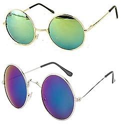 Younky Discount Offer On UV Protected Combo of Branded Stylish Mercury Sunglasses for Men Women Boys & Girls ( YNK_RDGM-RDBM ) - 2 Sunglass Case