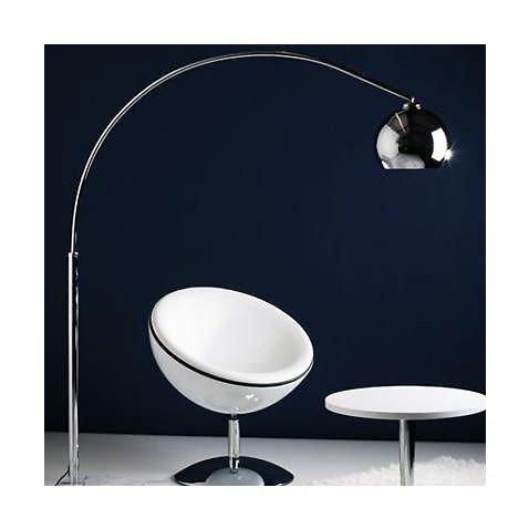 Lampadaire Design ARC Chrome hauteur 170cm