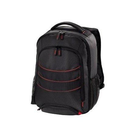 Hama Miami 270x 120x 340mm–Rucksäcke (schwarz, rot, Nylon, 270x 120x 340mm)