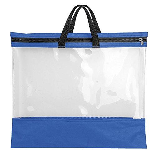 Veloflex 2703351 VELOBAG To Go, Reißverschlusstasche, Mal-, Zeichentasche, für A3, Textil und PVC-Folie, blau
