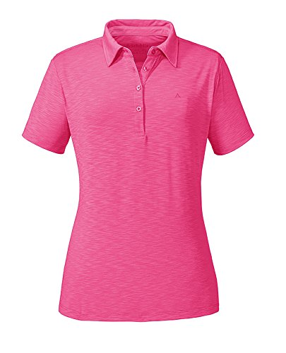 Schöffel Damen Polo Capri1 Shirt, Rosa (Camine Rose), 44 - Stadt-stretch-kurzarm-shirt