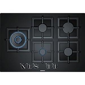 Siemens EP7A6SB20 hobs Negro Integrado Encimera de gas – Placa (Negro, Integrado, Encimera de gas, Vidrio, 1000 W, 1750…