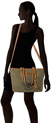 Lady Edelweiss - Trachtentasche, Borse a secchiello Donna Verde (Oliv)