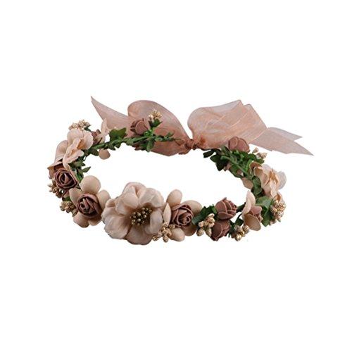 Frcolor Flor corona Diadema Corona para Mujer Novia Niña de la Fiesta