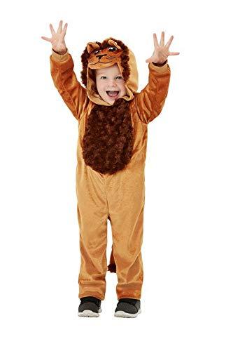 Luxuspiraten - Baby Jungen Mädchen Kostüm Toddler Plüsch Löwe Lion Fell Einteiler Onesie Overall Jumpsuit, perfekt für Karneval, Fasching und Fastnacht, 98-104, Braun (Lion Baby Kostüme)