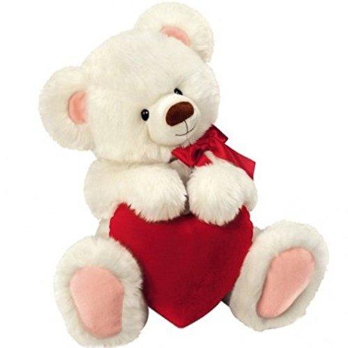 ® - Teddy, Eisbär, weißer Teddybär mit Herz, 30 cm (Zeichen Für Ich Liebe Dich)
