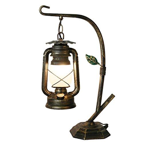 SLH American Rural Eisen Lampe alten Stil Pferd Lampe Coffee Shop antiken Tischlampe Inn Nachttisch Lampen und Laternen -