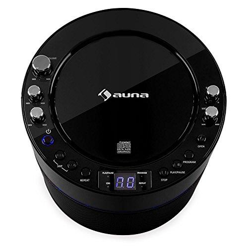 auna KS-1 Starlet • Kinder Karaoke Anlage • Karaoke Player • Karaoke Set • inkl. 1 x dynamisches Mikrofon • 2 x Mikrofonanschluss • CD+G-Player • inkl. Karaoke CD • Echo-Effekt • A.V.C. Funktion • Video- und Audio-Ausgang • programmierbar • schwarz - 6