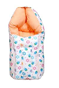 Baby Fly 3 in 1 Baby Cotton Bed Cum Sleeping Bag,60x45x15 cm, 0-8 Months (Multicolour)
