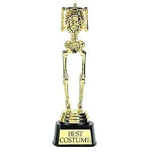Best Costume Skeleton Trophy 24 x 7.6 centimetre