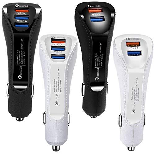 YAGAIU Adattatore per caricabatteria da Auto USB 3.0 a Carica Rapida per Cellulare Caricabatt