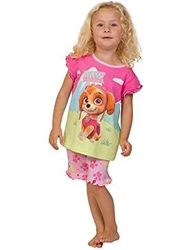ThePyjamaFactory Mädchen Schlafanzug rosa rose Gr. 5-6 Jahre, rose