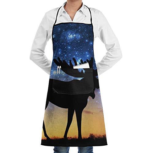 Universum Galaxy Moose1 Kochen Backen Garden Chef Schürze Barbecue Restaurant Küche BBQ -