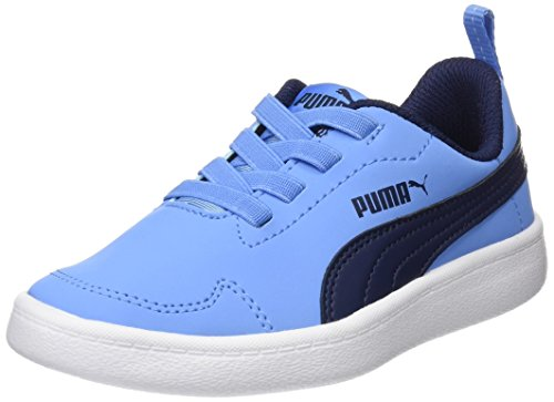 Puma Unisex-Kinder Courtflex PS Sneaker, Blau (Little Boy Blue-Peacoat), 31 EU