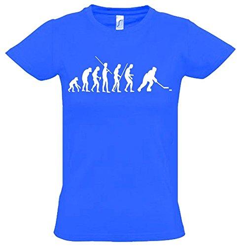 EISHOCKEY Evolution Kinder T-Shirt blau-weiss, Gr.152cm (Eishockey-schlittschuhe Blaue)
