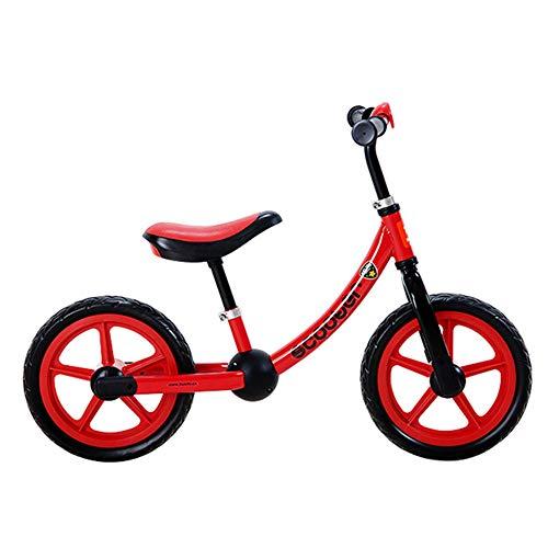 Balance SLFF Bike Kein Pedal Carbon Steel Rahmen, Verstellbarer Lenker Und Sitz Kinderroller,Red-12''