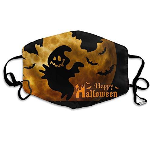 ske,Wiederverwendbar Anti Staub Schutzhülle,Happy Halloween Pattern Mouth Masks Unisex Anti-Dust Flu Washable Reusable Mouth Mask Fashion Design for Girls Women Boys Men ()